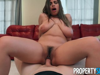 PropertySex Horny housewife with big tits cheats on husband with agent