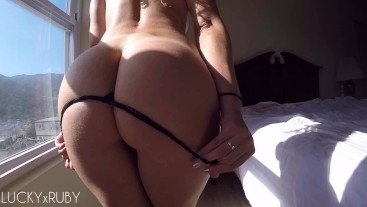 POV Young Amateur Takes Big Cock By The Window - LUCKYxRUBY