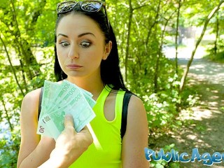 Public Agent Kittina Clairette gets creampied fucking outdoors Kittina Clairette
