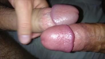 Jerking big dicks with my best friend