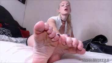 Foot Fetish JOI Cum for My Wrinkled Soles - feet joi foot domination femdom