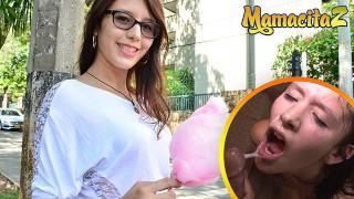 MAMACITAZ - Tiny Latina Amateur Teen Gets Picked Up And Facialized