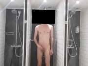 locker room shower