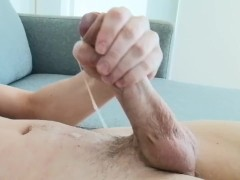 Young British Big Dick Lad Wanks with Thick Cumshot on himself