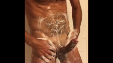 Solo male in the shower