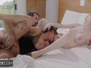Deeper Bu First Threesome with Escort Autumn Falls Autumn Falls, Bunny Colby, Manuel Ferrara