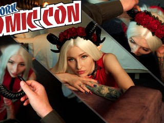 Comic con sex with cosplayer girl MyKinkyDope