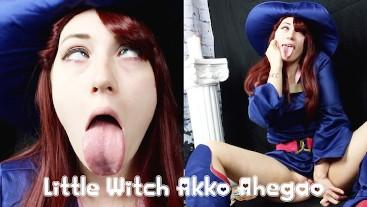Little Witch Akko Ahegao TEASER OmankoVivi Cosplay Tongue Fetish Anime