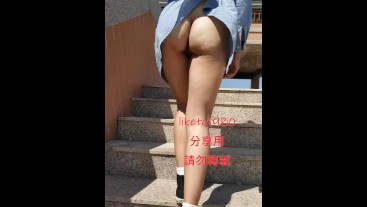 Taiwan girl exposed outdoor