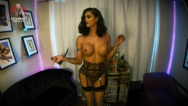 pin-up doll busts a nut