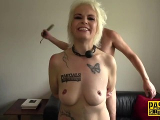 Throated and mouth jizzed sub gets paddled Pascal White