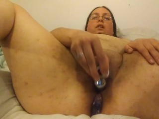 Thick girl anal play with tails and plugs