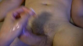 Femdom Handjob with male Cum Feeding at the end