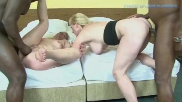 Blonde Grannies share Some Black Dicks