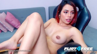 Katt Fields on Flirt4Free – Latina College Babe Spreads Her Perfect Ass