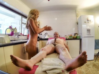 My New Massage Room Unseen View Beefy Banger