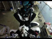 Murrsuiter gets pegged hard by a dominatrix in a swing
