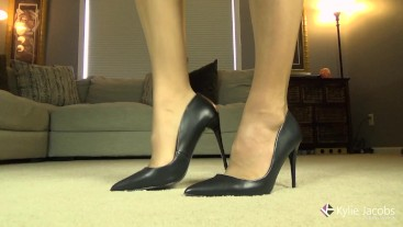 My New Black Leather Pumps