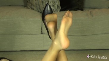 Pantyhose Feet Up in Air