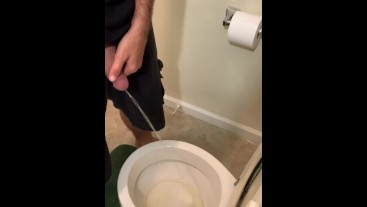 Bathroom spy cam pissing