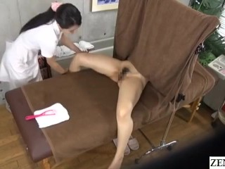 Lesbian therapeutic massage Japanese breast and inside thigh course Subtitles