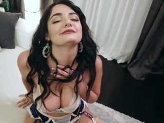 Sexy Charlotte Cross Jerks Your Cock In Her Nylons Charlotte Cross