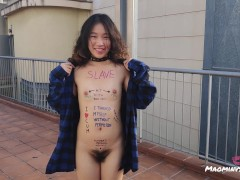 Chinese little sub loves body writing a...