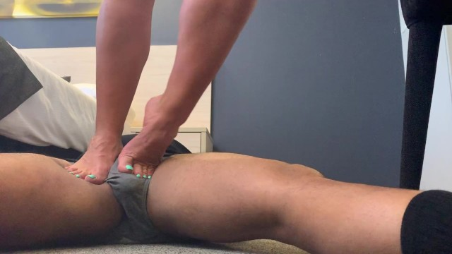 Hanging woman bondage Muscular calves trampling man 17 inch calves evez musclez on clips 4 sale f