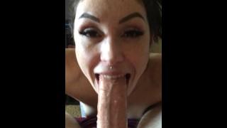 Ashley Wolf shows off her SLOPPY deepthroat skills