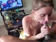 Kitty suck my cum out so sloppy