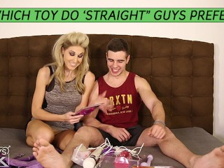 Very Popular Cock Jock Let's Hot Blonde Try Anal Toys On Him