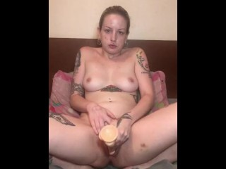 Fast Paced Dildo Play