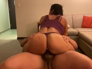 Fit Spanish wife gets pussy slayed in the studio apartment