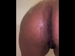 Big Black Booty- Ebony in shower