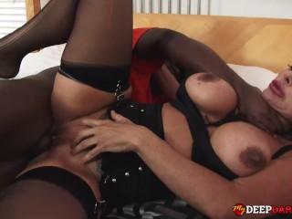 Big Tit MILF Aubrey Black Interracial Creampie Fuck Aubrey Black