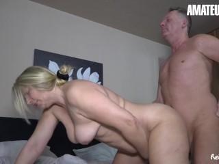 AmateurEuro Chubby German Amateur Wife Cums Hard On Her Neighbors Cock