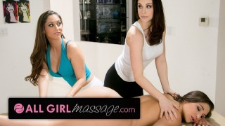 AllGirlMassage Abella Danger Ass Rubbed by 2 MILFS