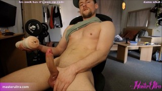 Fifth orgasm of that day. Still shooting cum. Fun with very wet Pussy