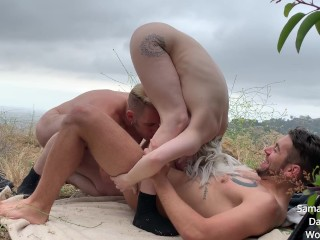 Samantha Knoxx gets caught fucking two men in FIRST public scene MMF