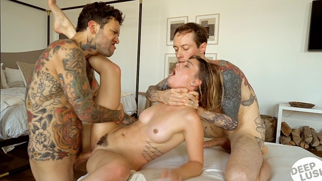 Double Creampie BBG Threesome with Kristen Scott Small Hands and Owen Gray