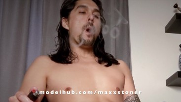 Maxx Stoner Blows Smoke Rings
