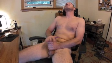 I was trying a little bit different of a method of jerking off.