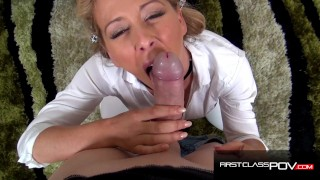 Cherie DeVille Sloppy Hardcore Blowjob - FirstClassPOV