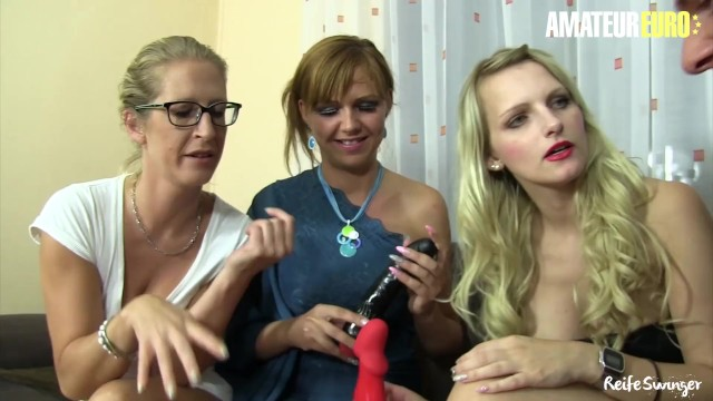 AmateurEuro - Three German MOMS Get All Kinky With a Younger Cock
