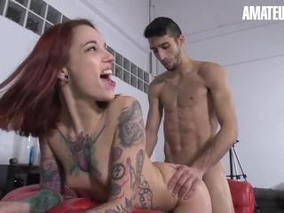 AmateurEuro – Bootylicious Redhead Pornstar Seduces and Fucks Amateur Guy