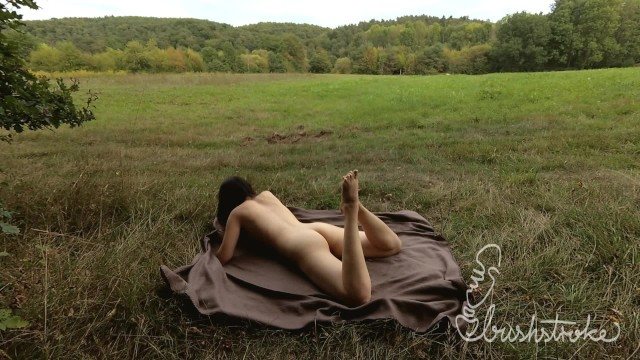 Chelsea field nude pic - Humping my picnic blanket in a field close to a trail