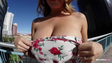 RISKY Public Butt Plug Panty Stuffing Masturbation - Molly Pills - 1080p HD