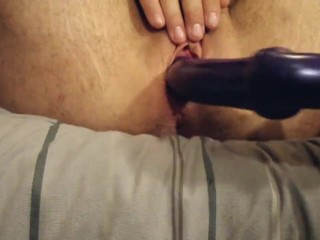 FTM Transguy Rubbing T Cock And Fucking Hole with Dildo