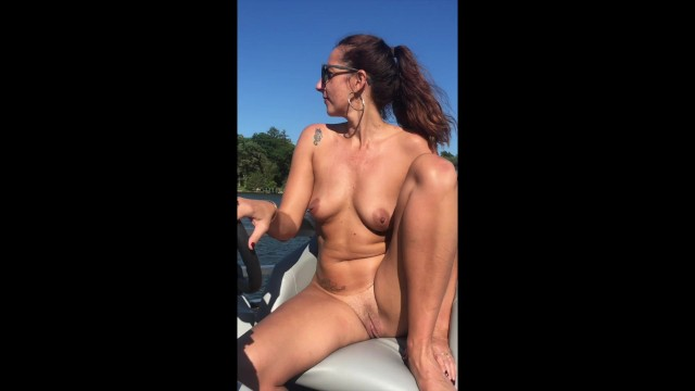 Nude babes boats Naked boat captain, milf takes it all off on the water.