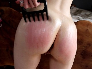 Self spanking ass punishment